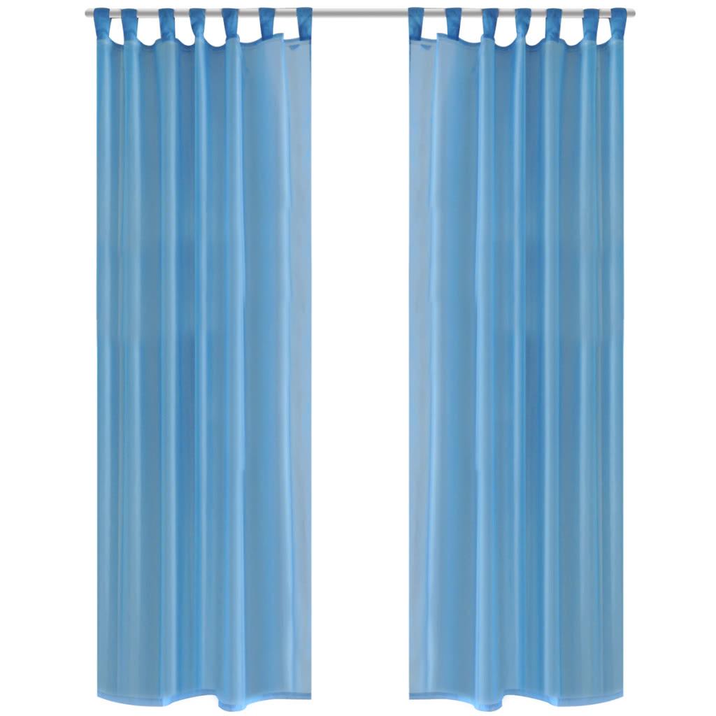 Turquesa cortina escarpada 140 x 225 cm 2 pc - Cortinas turquesa ...