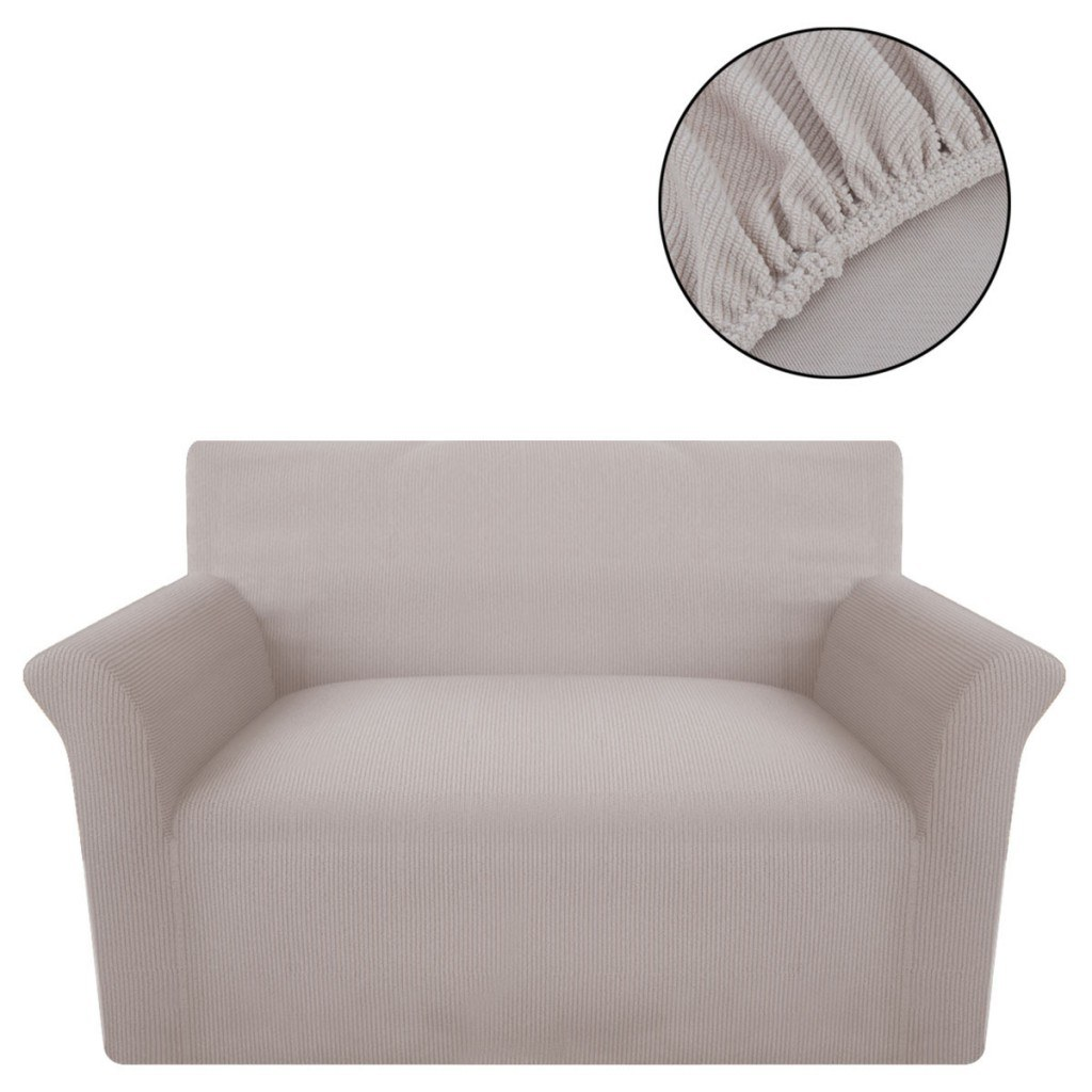 elastische manschette f r well stoff sofa beige braun. Black Bedroom Furniture Sets. Home Design Ideas