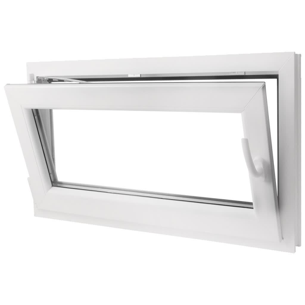 Pvc doppelt verglaste fenster kippen und griff der 1000x600mm drehen wei - Fenster nur halb kippen ...