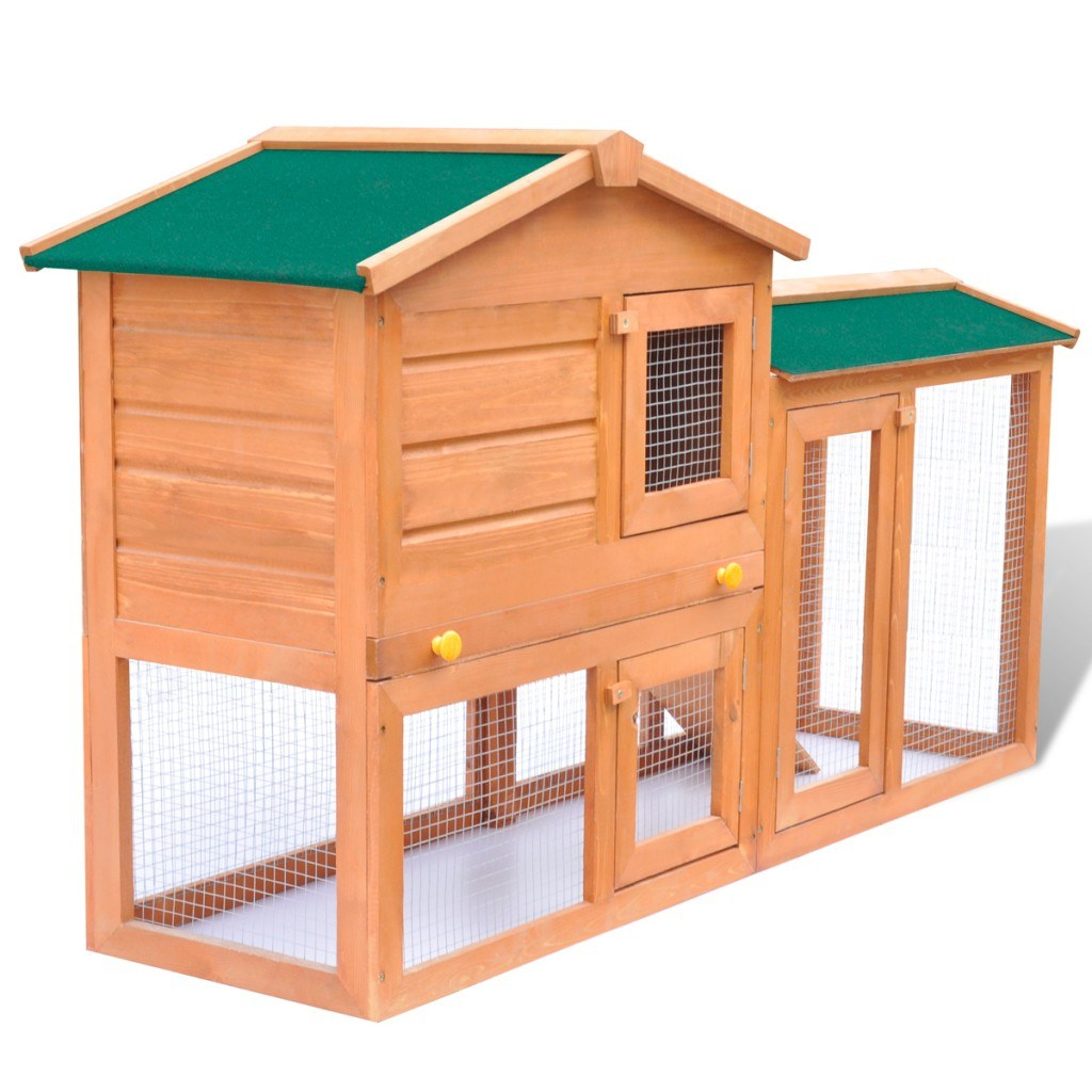 Large rabbit cage outdoors small house pets Wood