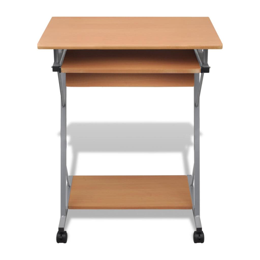 computertisch computerwagen pc tisch b rotisch laptop auf rollen braun sales online tomtop. Black Bedroom Furniture Sets. Home Design Ideas