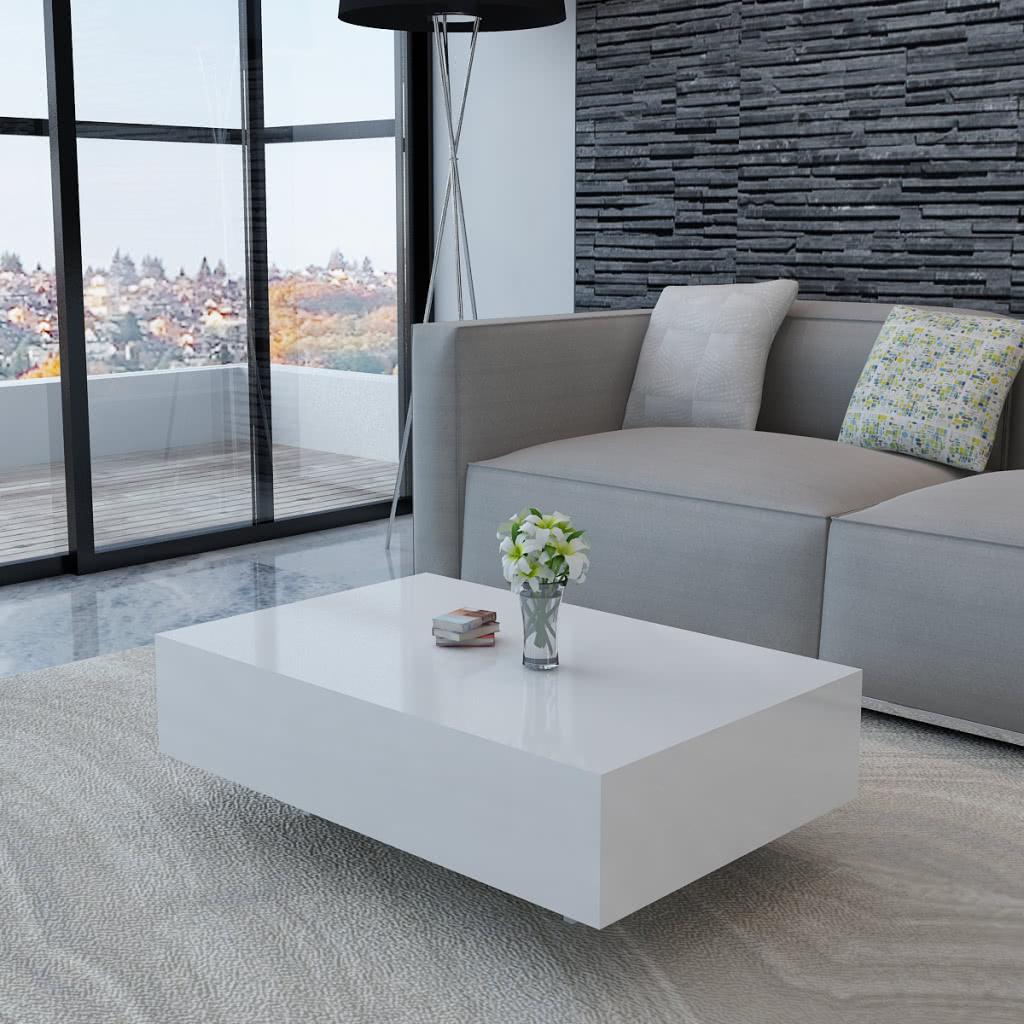 wei er hochglanz wohnzimmertisch 85 cm sales online tomtop. Black Bedroom Furniture Sets. Home Design Ideas