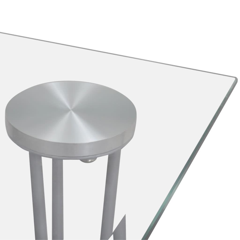 esstisch esszimmertisch mit transparenter glasplatte. Black Bedroom Furniture Sets. Home Design Ideas