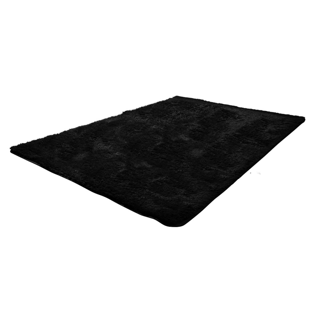 noir shaggy tapis 160x230 cm poids lourd 2600 g m. Black Bedroom Furniture Sets. Home Design Ideas