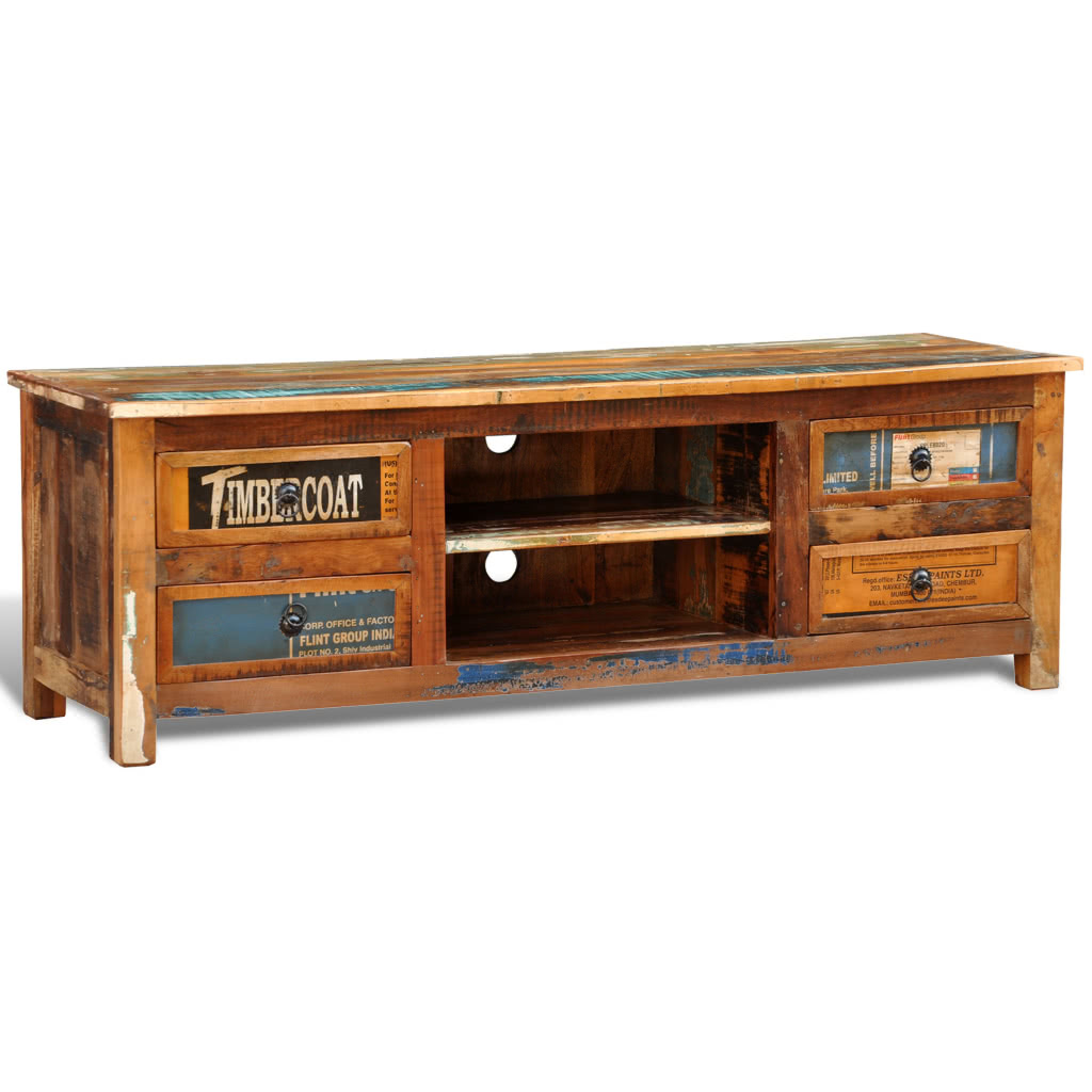 reclaimed wood tv cabinet tv stand 4 drawers sales online
