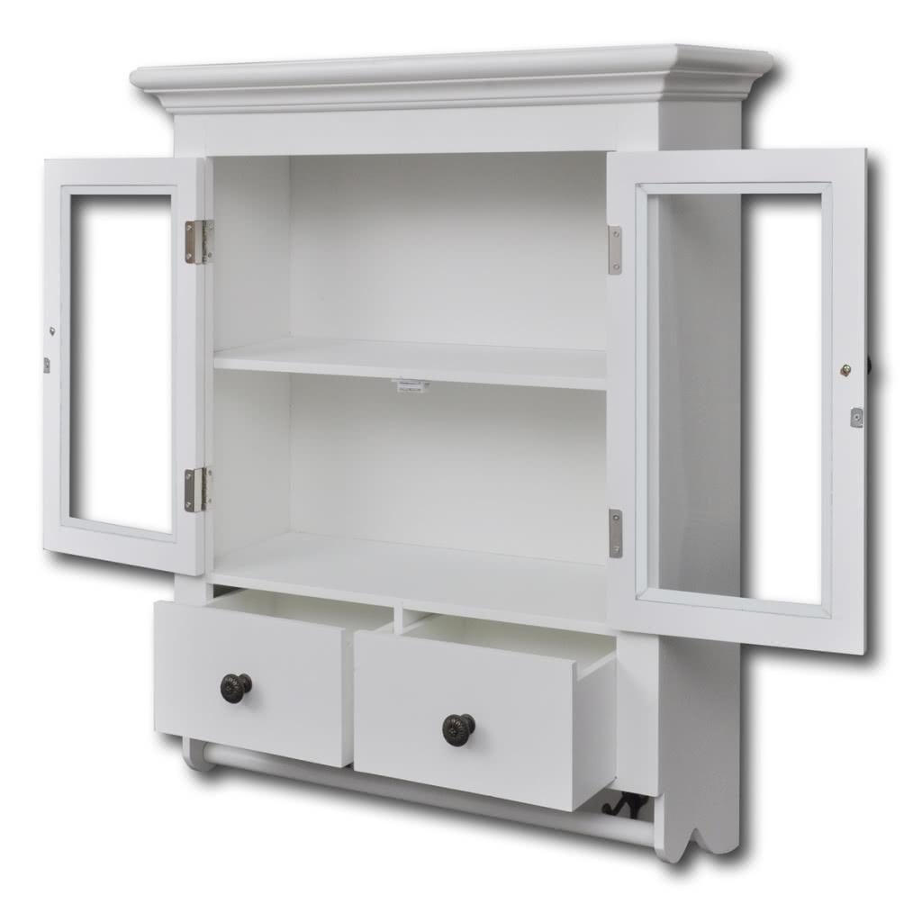 Blanco de madera de cocina gabinete de pared con puerta de for Comprar gabinetes de cocina