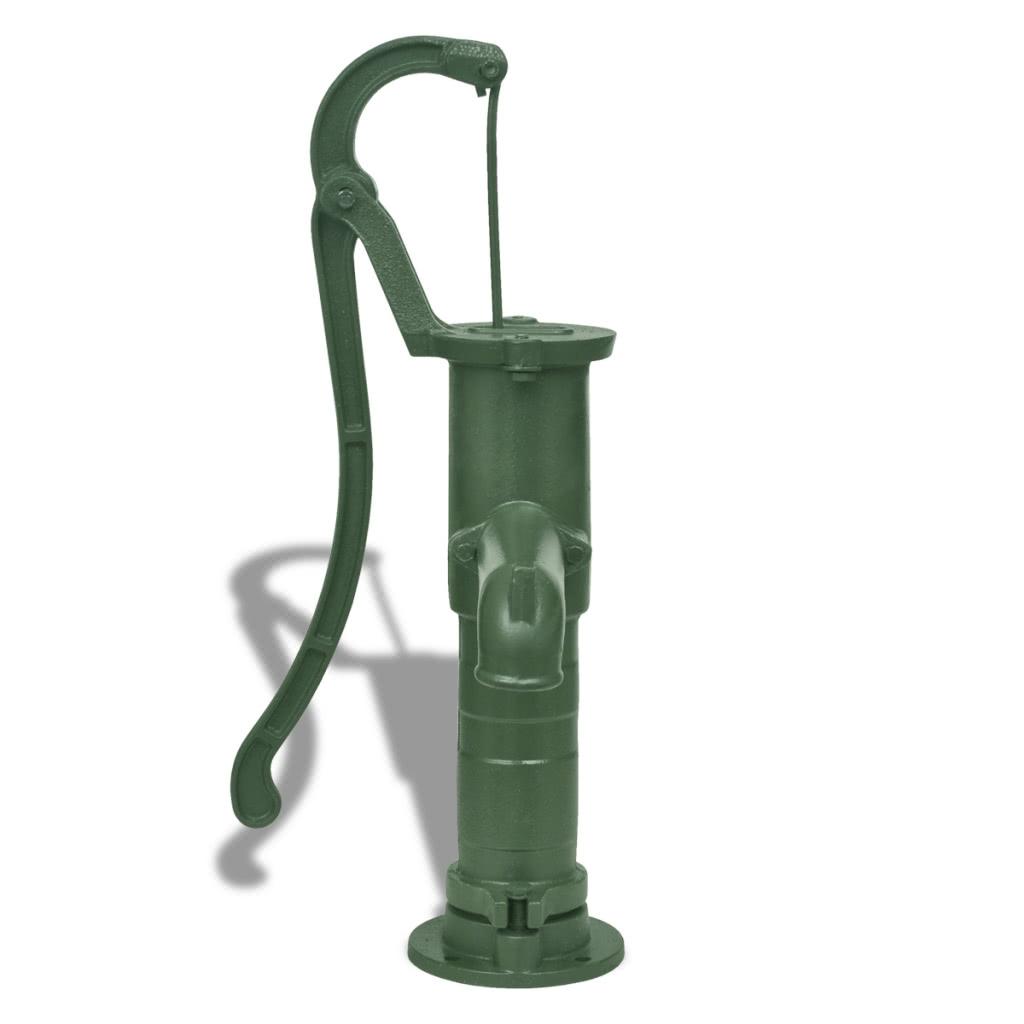pompe manuelle eau en fonte avec socle sales online drak green tomtop. Black Bedroom Furniture Sets. Home Design Ideas