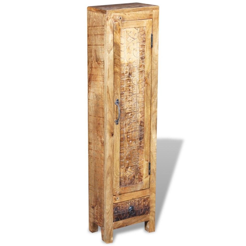 Vanity Wardrobe Mirror 2 Mango Solid Wood Cabinets S 棕色 Tomtop