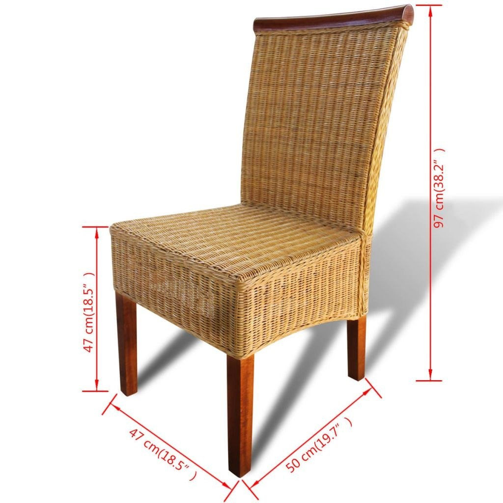 Rattan dining room chairs sale