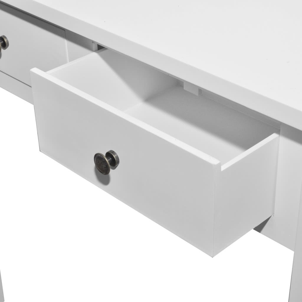 Tavolo Consolle con 2 Cassetti Bianco nero rosso - Tomtop.com