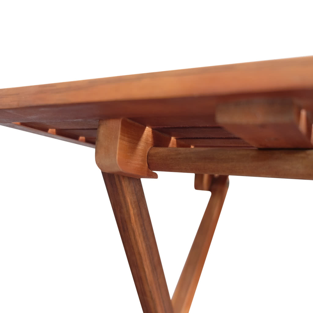 kaffee beistelltisch f r drau en akazienholz. Black Bedroom Furniture Sets. Home Design Ideas