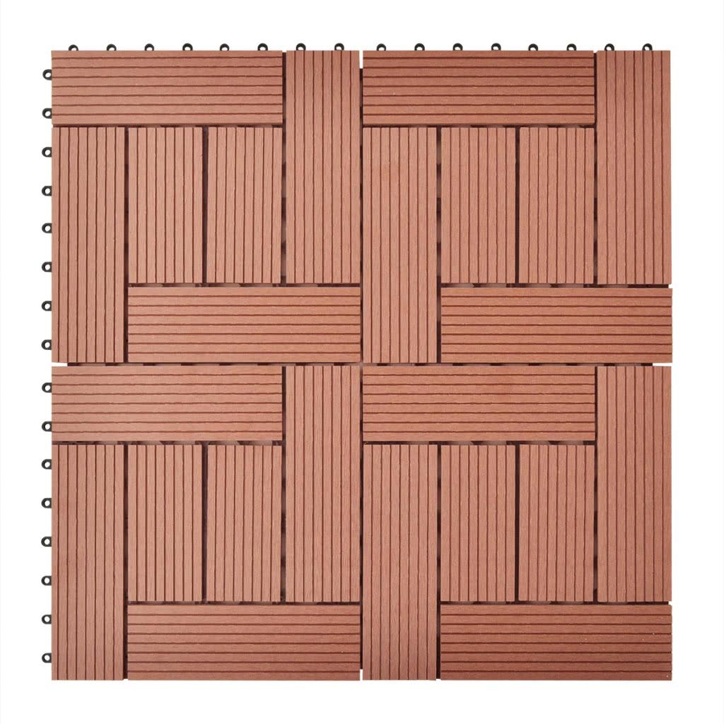 braune terrassenfliesen 11 stk 30 x 30 cm wpc 1 qm sales online brown tomtop. Black Bedroom Furniture Sets. Home Design Ideas
