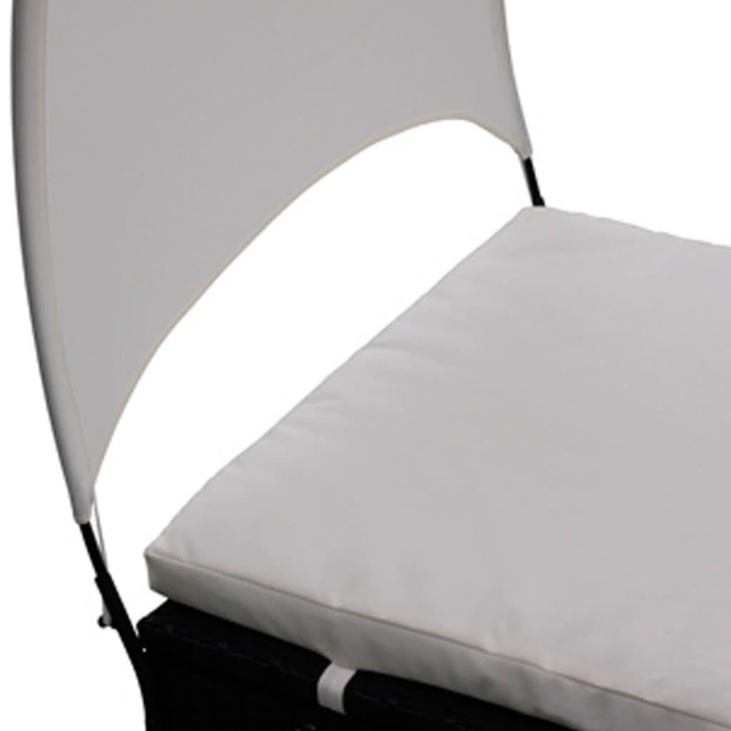 Rattan sal n cama con el pabell n negro - Como hacer un pabellon para cama ...
