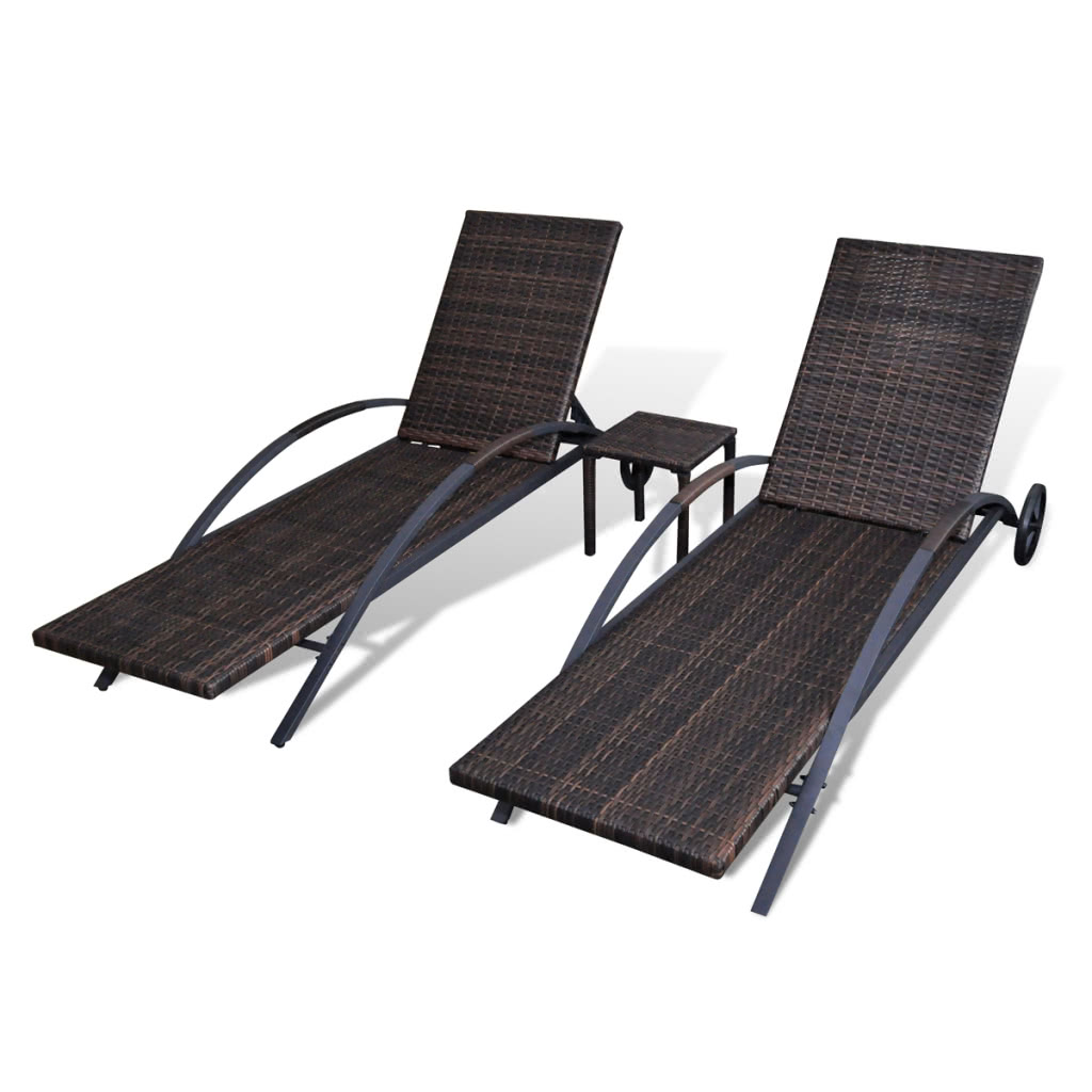 Delivery Includes: 2 X Sunbeds, 2 X Cushions And 1 X Table. Note: We  Recommend Covering The Sunbed During Rain, Snow And Frost For Its Best  Service To Last.