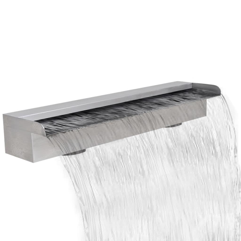 Fuente rectangular de acero inoxidable para piscina 60 cm - Piscina acero inoxidable precio ...