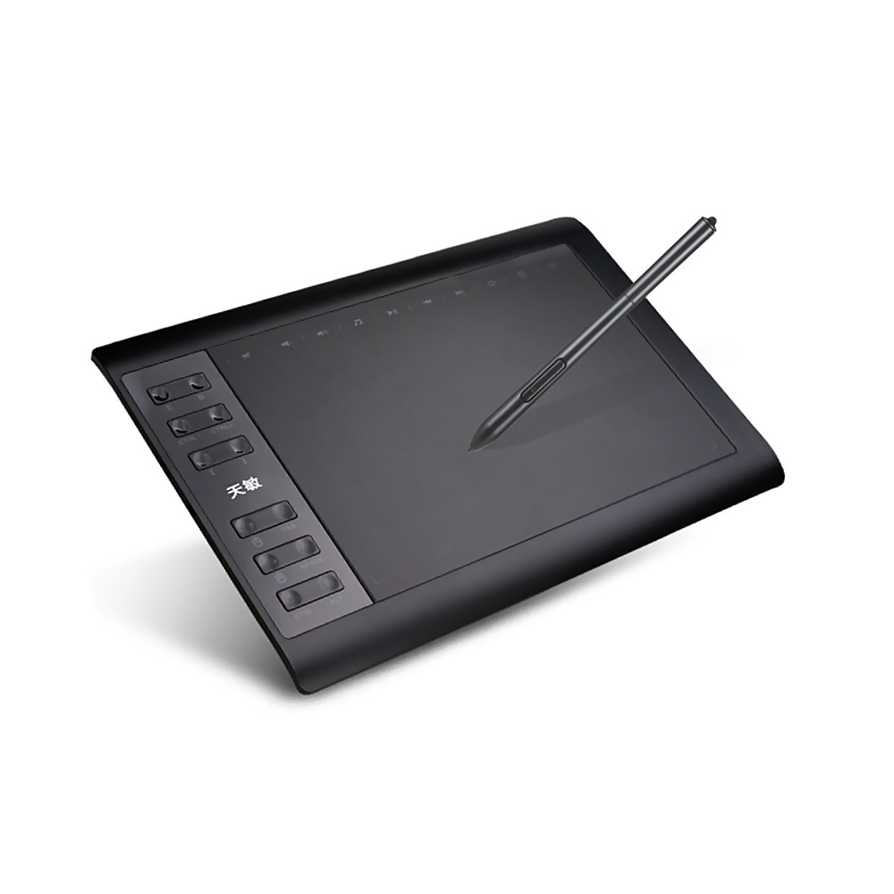 tomtop.com - [EU Warehouse] 48% OFF G10 10×6 Inch Graphic Drawing Tablet 8192 Levels, $39.99 (Inclusive of VAT)