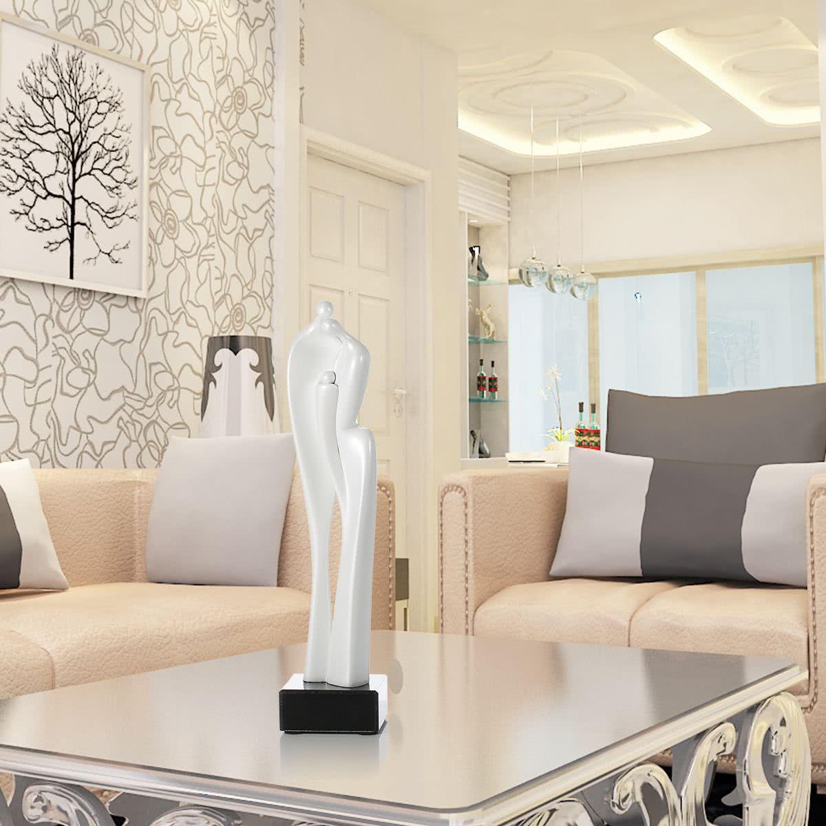 sculpture tomfeel lovers r sine de fibre de verre ornement int rieur decor statue figurine. Black Bedroom Furniture Sets. Home Design Ideas