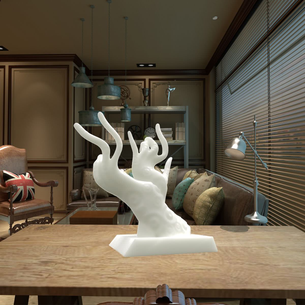 Hand Reflection Tomfeel 3D Printed Sculpture Home Decoration Reflection Hand