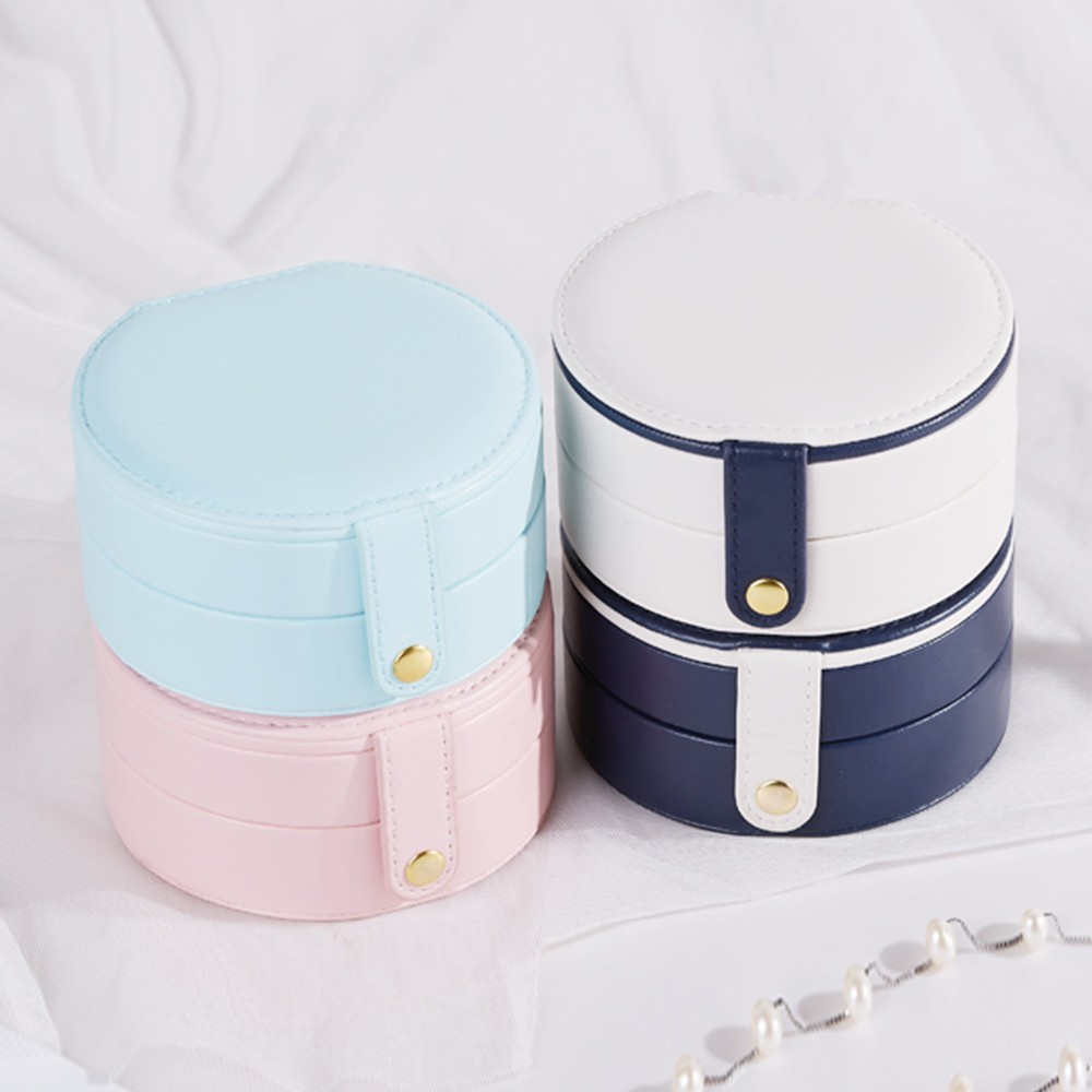 Jewelry Storage Box Organizer Round