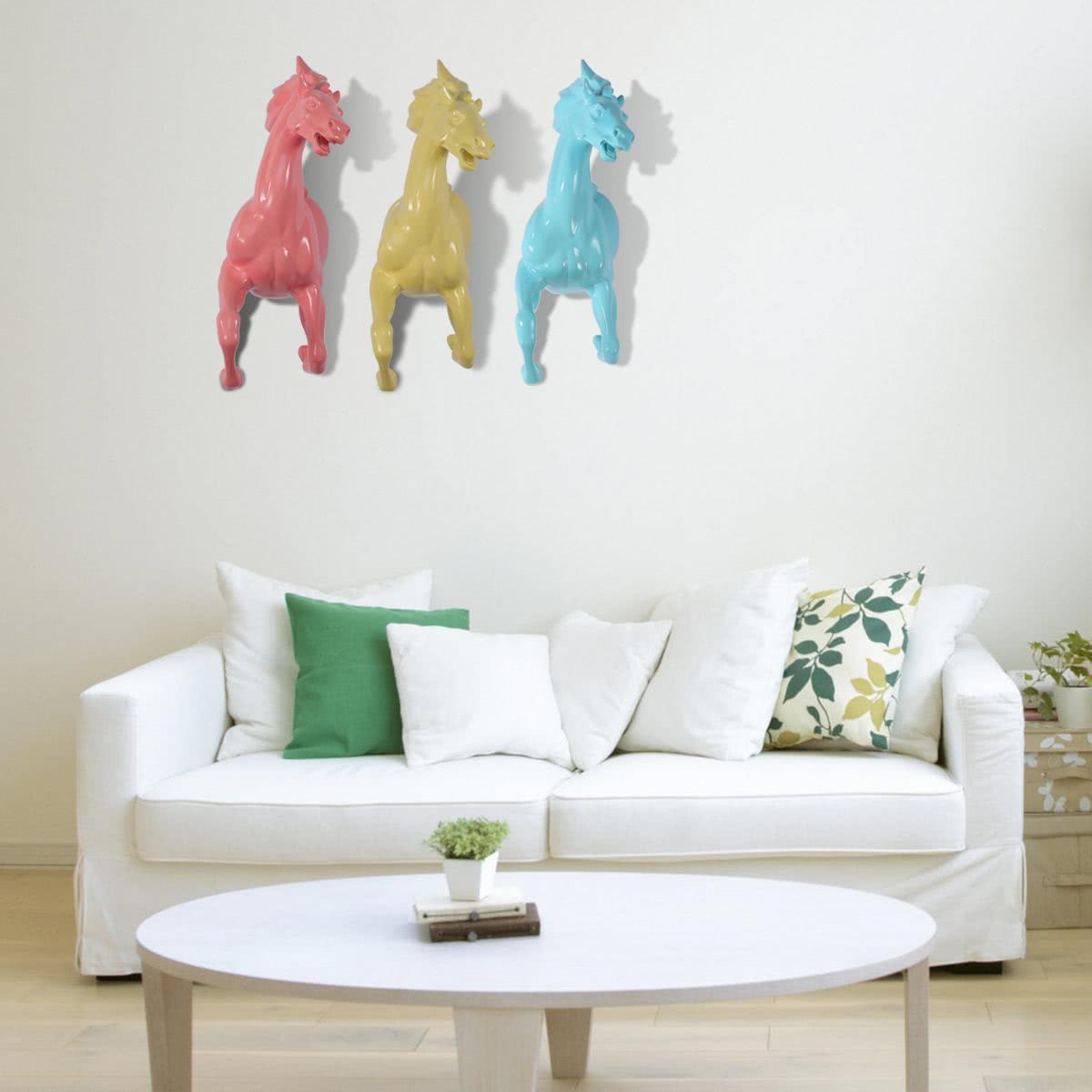 Tooarts resina que corre caballo decoraci n de la pared - Resina para paredes ...