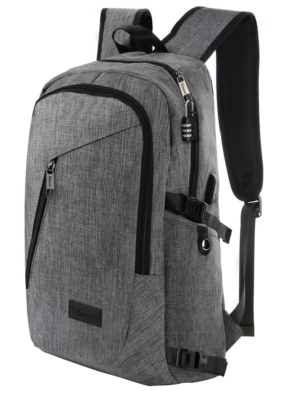 Business Laptop Backpack Slim Anti Theft Computer Bag Water Resistent College School