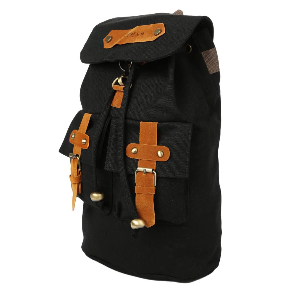 49ab58479d7b7 جديد أزياء النساء الرجال قماش ظهره أسلوب بريبي إبزيم حزام جيوب الطلاب السفر  حقيبة أسود   كحلي   أزرق