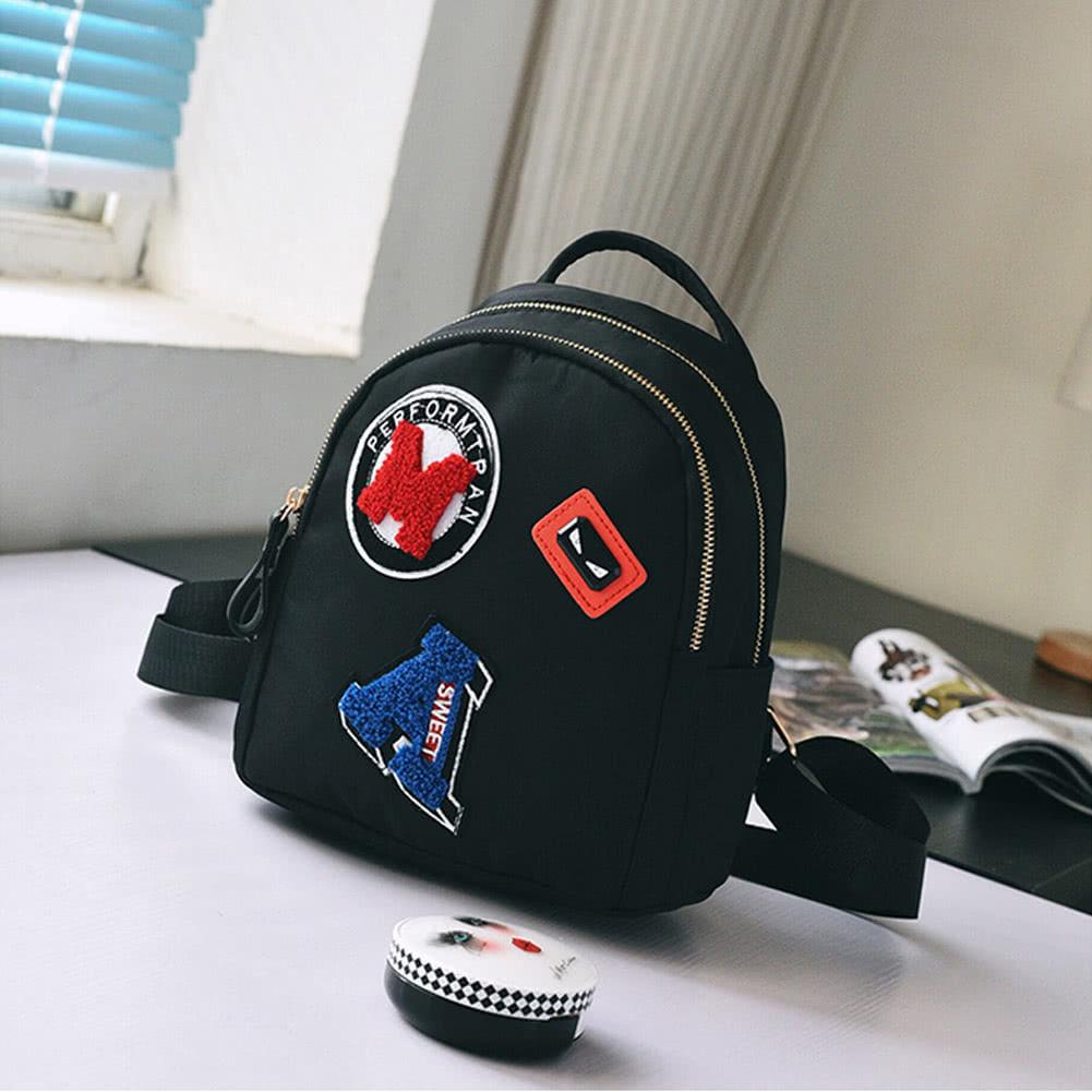 d2bfa307c9e3 Women Mini Backpack for Teenagers Girls School Bag Cute Applique Solid  Small Backpack Casual Rucksack Bag