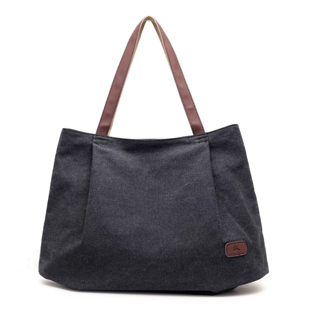 Bolsa De Ombro De Lona Feminina : Bolsas de lona feminina sacola grande capacidade bolsa