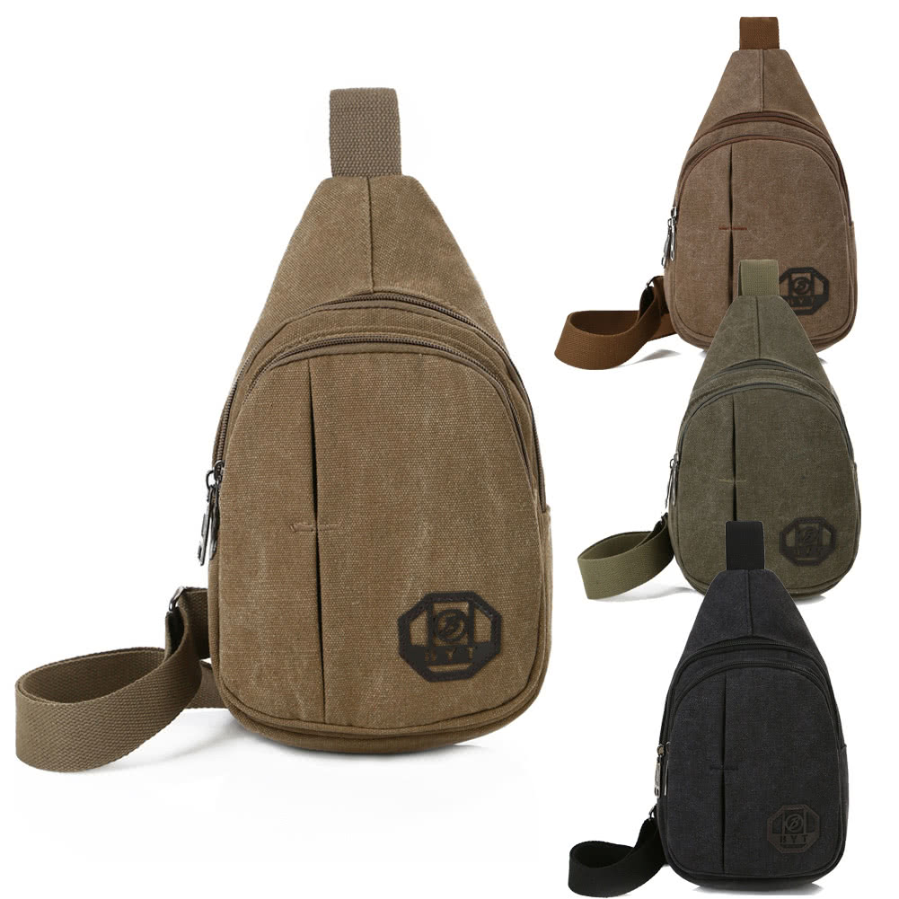 Canvas Sling Backpack Gemeer Rope Sling Bag Crossbody Sling Daypack for Men/&Women Multipurpose Casual Daypack Hiking Shoulder Bag