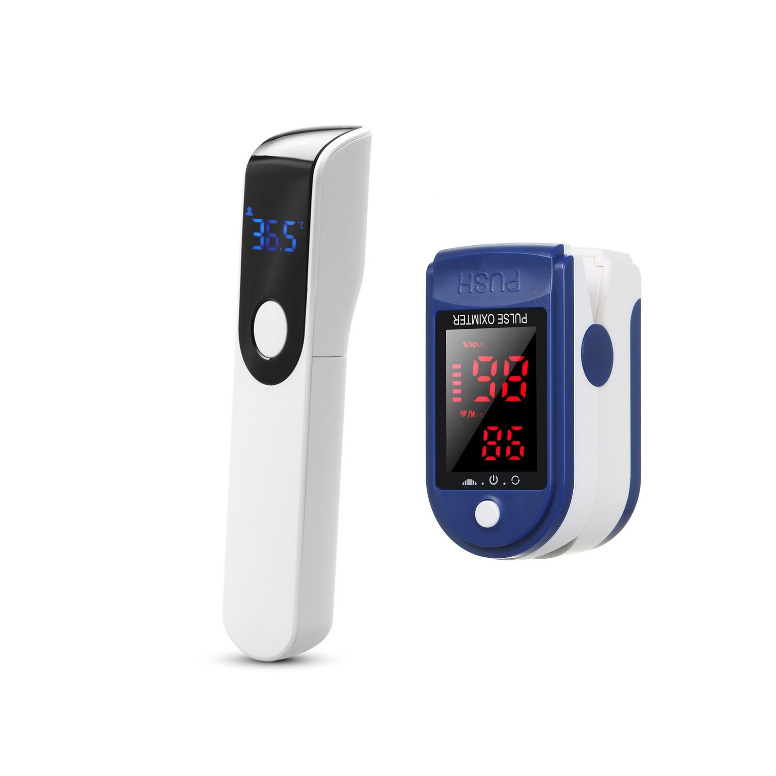 cafago.com - 82% OFF Blood Oxygen Monitor+IR-FM01 Non-Contact Thermometer,free shipping+$10.68