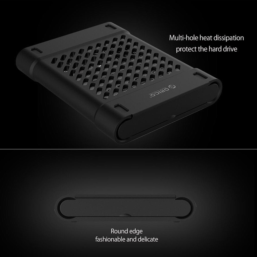 Orico Phs 25 25in Hdd External Hard Drive Protective Box Ssd Pouch Harddisk Silicone Case Storage For Shockproof Anti Static Black
