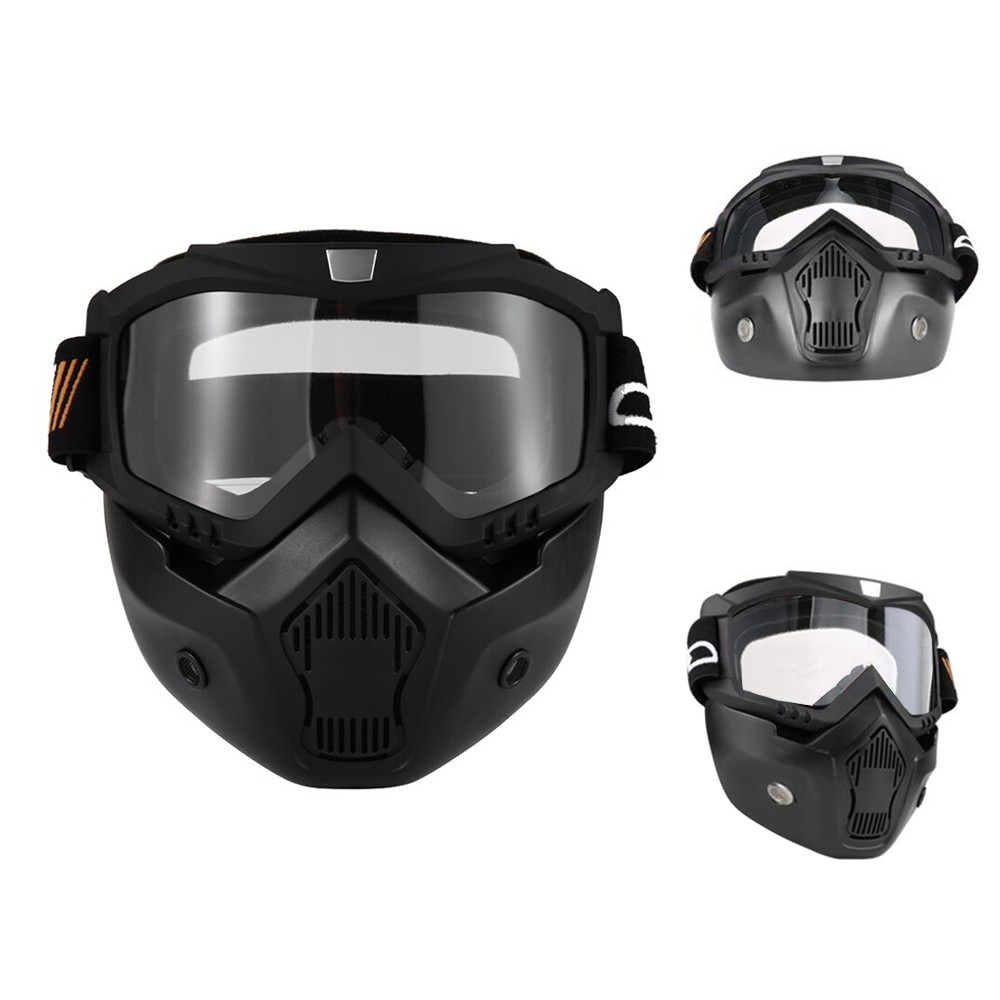 Motorcycle Helmet with Goggles Visor Scarf Touring Helmet for Harley ...