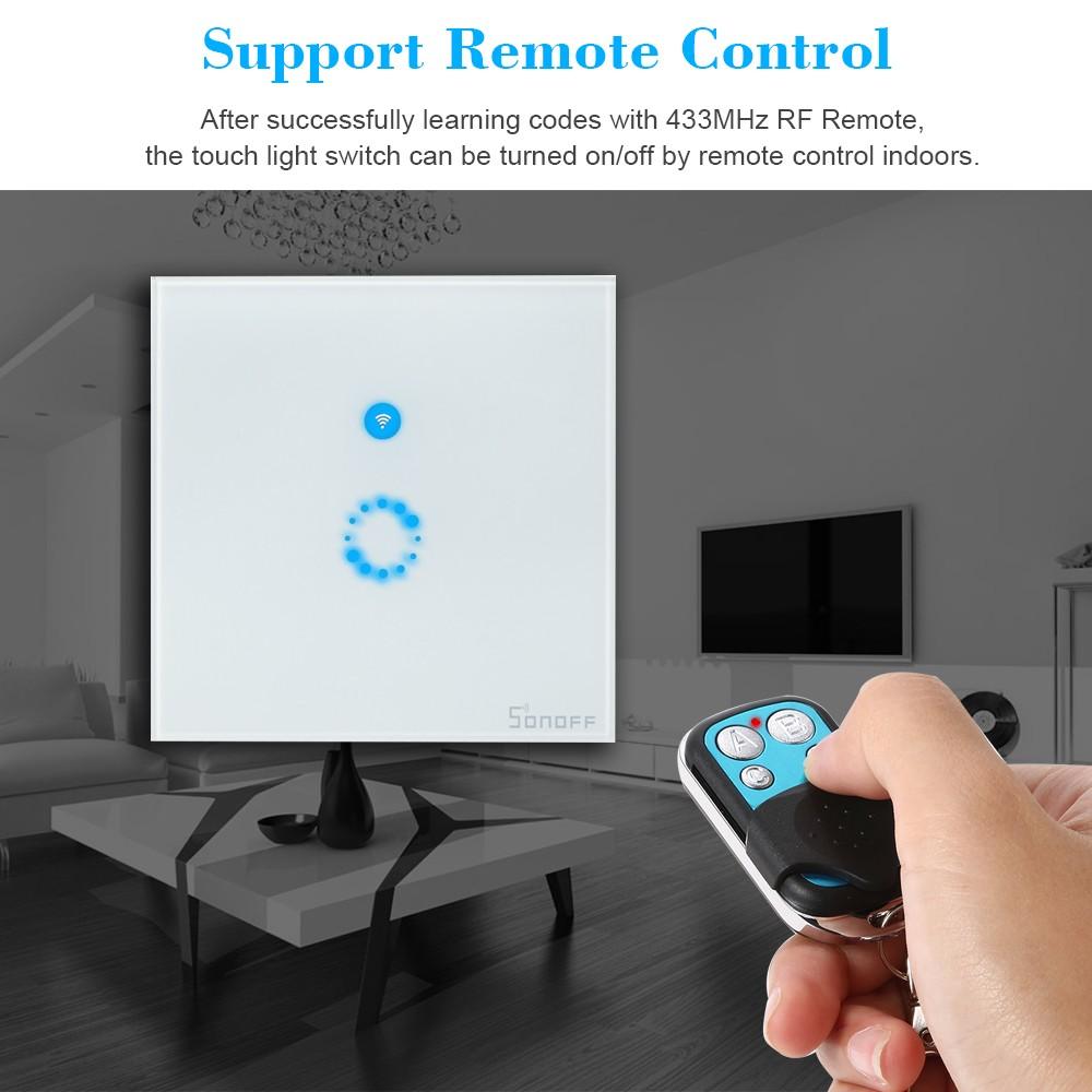 SONOFF T1 UK ITEAD 1 Gang Smart WIFI Wall Light Switch