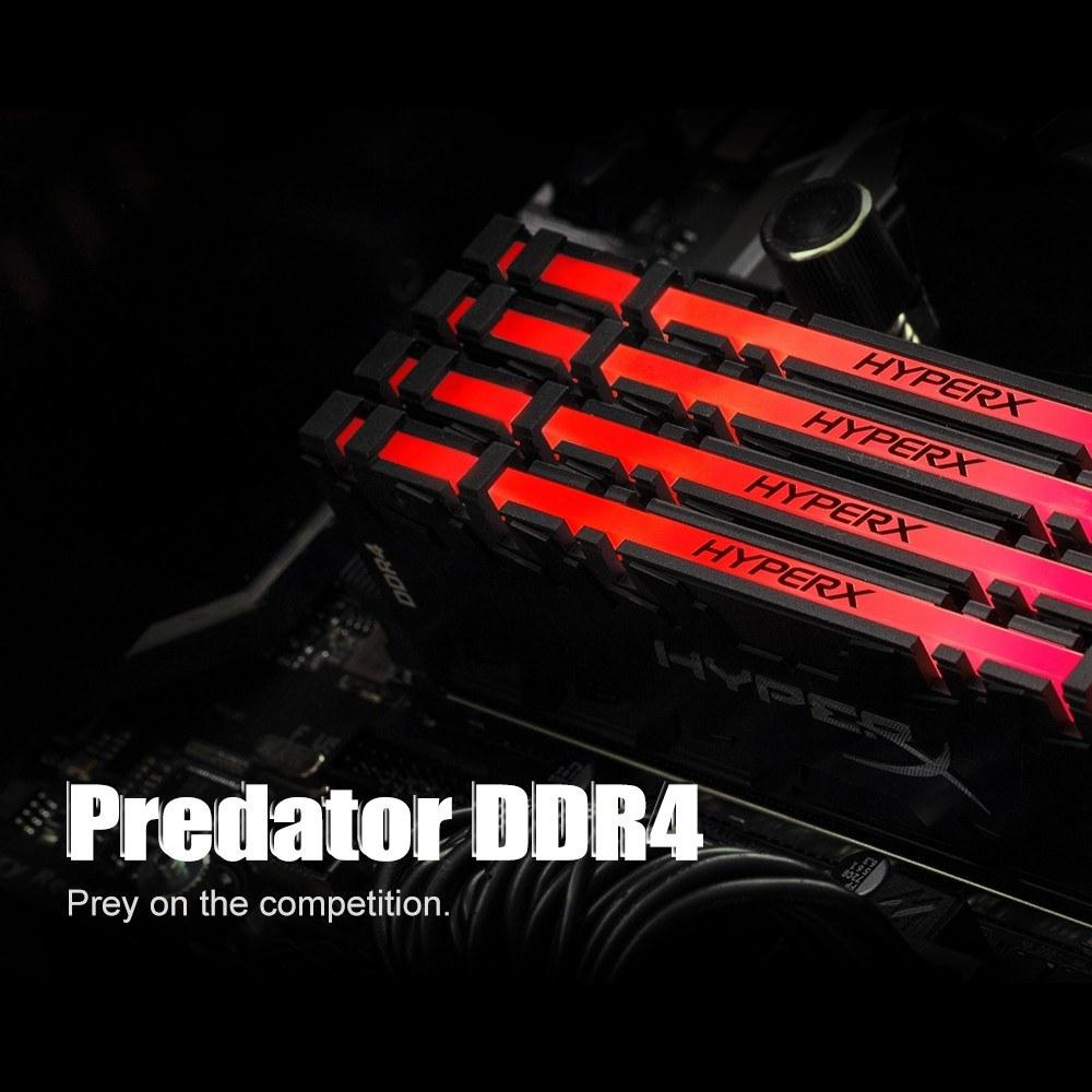 Kingston HyperX Predator RGB DDR4 3600MHz 8GB Memoria Ram UDIMM 288-pin XMP  Memory Rams for Desktops HX436C17PB3A/8(Single Module)