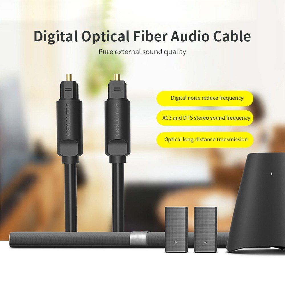 VENTION Digital Optical Fiber Audio Cable HiFi DTS Stereo Cable