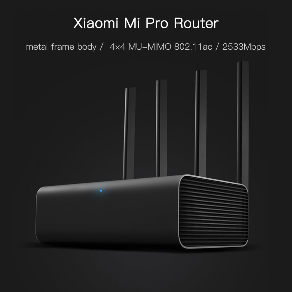 Xiaomi Mi Pro Router Wifi Repeater 4 Antenna 24g 5ghz Dual Band Extender Original 100 2533mbps Wireless Mu Mimo Sales Online Tomtop