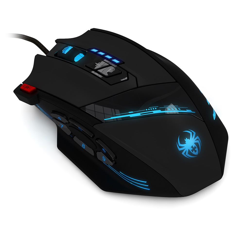 Zelotes C 12 Wired Usb Optical Gaming Mouse Programmable Buttons Wireless Computer 24g Game Mice 4 Adjustable Dpi 7 Led Lights For Players Sales Online Tomtop