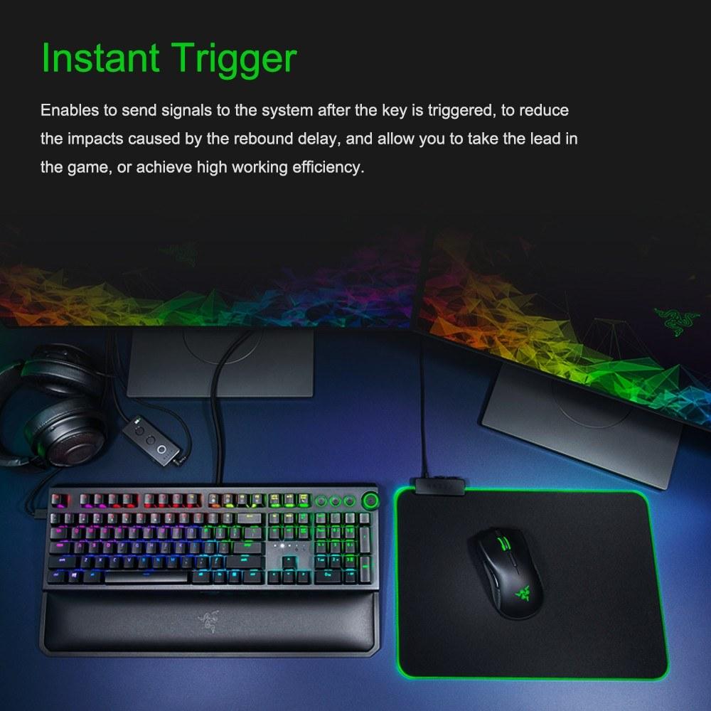 Razer BlackWidow Elite Mechanical Keyboard Gaming 104 Keys RGB Wired  Keyboard Instant Trigger Chroma Colorful Light HyperShift Black With Palm  Rest