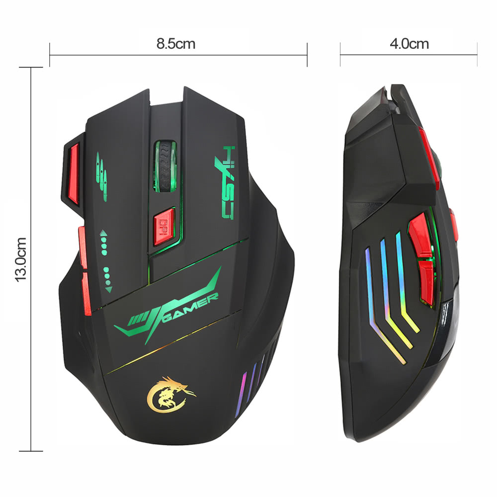 HXSJ H100 Gaming Mouse USB Wired Optical Game Mouse 5500 DPI ...