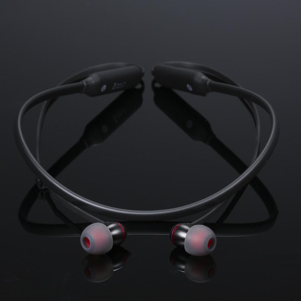 Dacom L06 Bluetooth 4.1 Cuffie senza fili Cuffie con archetto Mini Sports  Auricolari in-ear Bassi stereo con microfono Black c57badbd2a9c