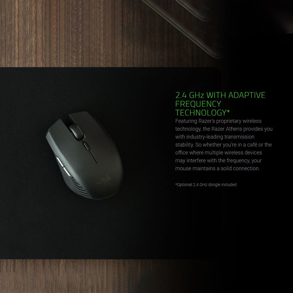 0480021c22f Razer Atheris Bluetooth Wireless Mouse Ambidextrous Mini Portable Gaming  Mouse 7200 DPI Optical Sensor 2.4 GHz for Work and Play
