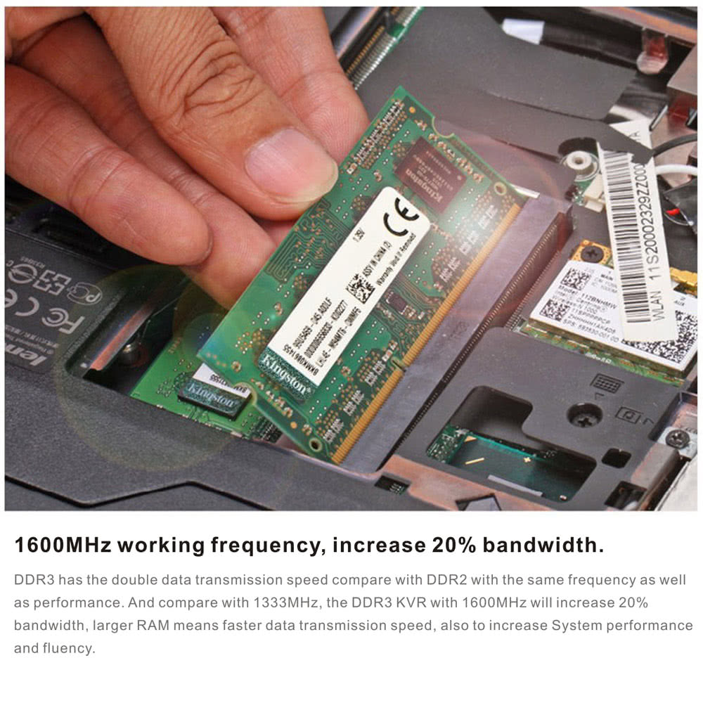 Genuine Original Kingston Kvr Notebook Ram 1600mhz 4g 135v Non Ecc Laptop Ddr3l 8gb 2rx8 Pc3l 12800 Low Voltage Ddr3 Cl11 204 Pin Sodimm Motherboard Memory