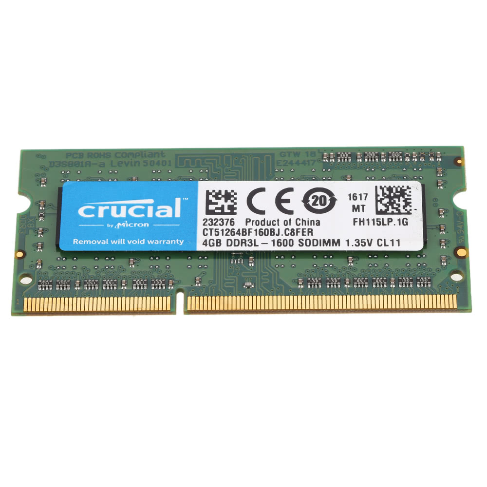 Crucial 4gb Ddr3 1600mhz Pc3 12800 135v Cl11 204 Pin Sodimm Memori Pc Notebook Laptop Memory Ram Ct51264bf160b Sales Online Tomtop