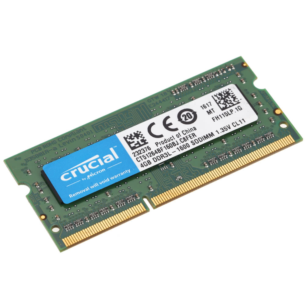 Crucial 4gb Ddr3 1600mhz Pc3 12800 135v Cl11 204 Pin Sodimm Sodim Notebook Laptop Memory Ram Ct51264bf160b Sales Online Tomtop