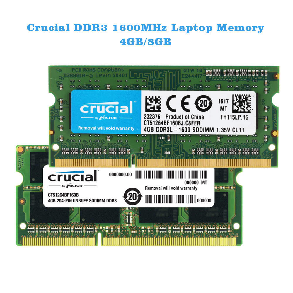 Crucial 4gb Ddr3 1600mhz Pc3 12800 135v Cl11 204 Pin Sodimm Micron Pc4 2400t Notebook Laptop Memory Ram Ct51264bf160b Sales Online Tomtop