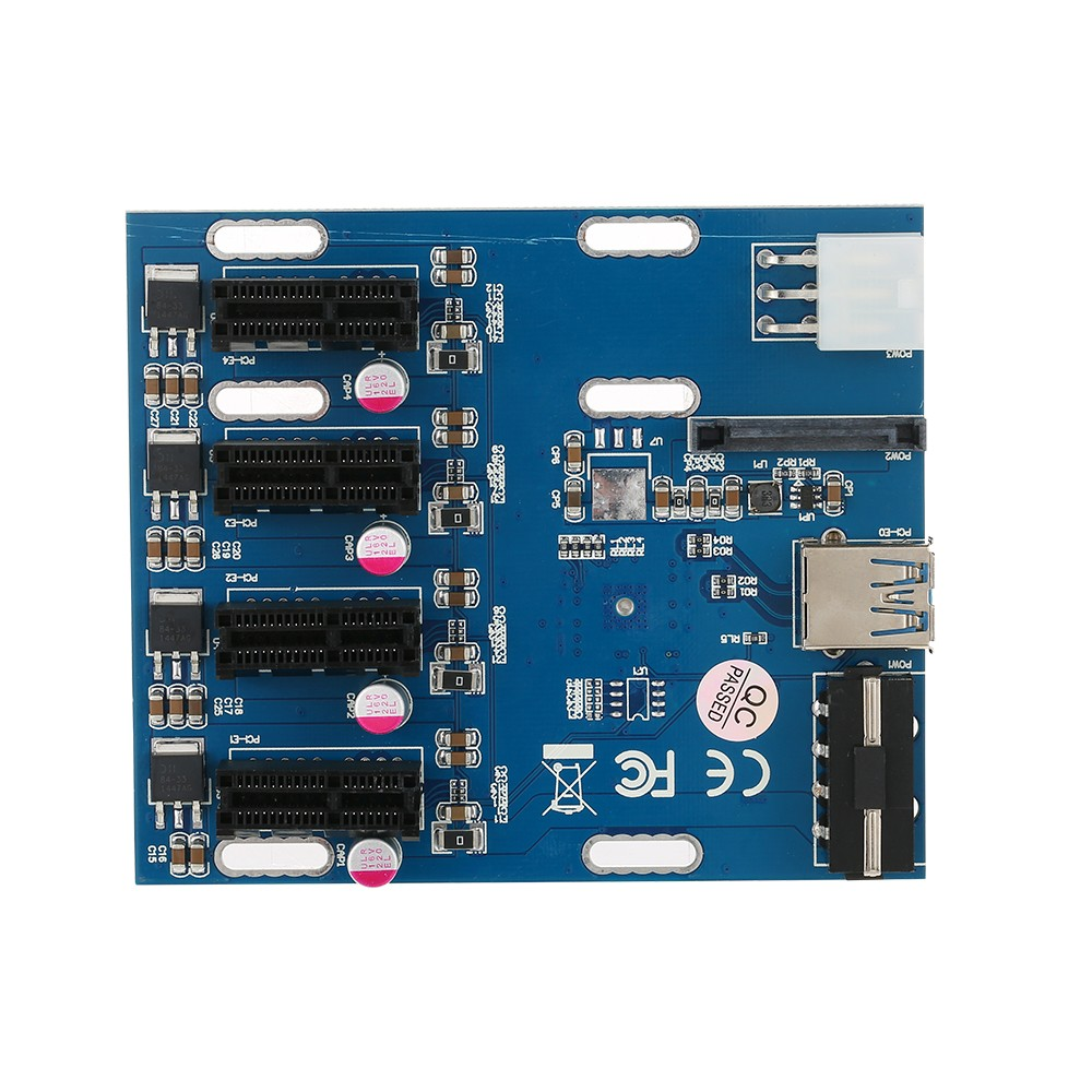 Pci E 1x Expansion Kit 1 To 4 Slots Switch Multiplier Hub Riser Card 30 Adapter With Usb Cable Pcie Mining Modules Sales Online Tomtop