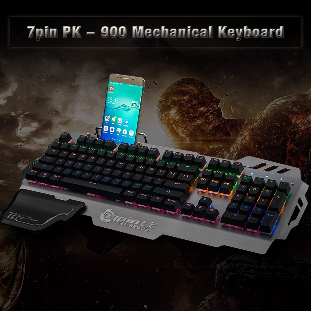 9aa1e079965 Best 7pin PK-900 Mechanical Gaming Keyboard Blue Switches with Sale ...