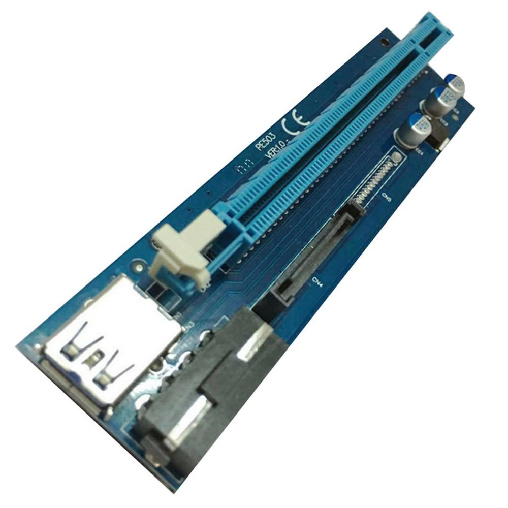 Best Pcie Pci E Express Riser Card 1x To 16x Usb 30 Data Cable Vga Sata 4pin Ide Molex Power Supply For Btc Miner Machine Mining