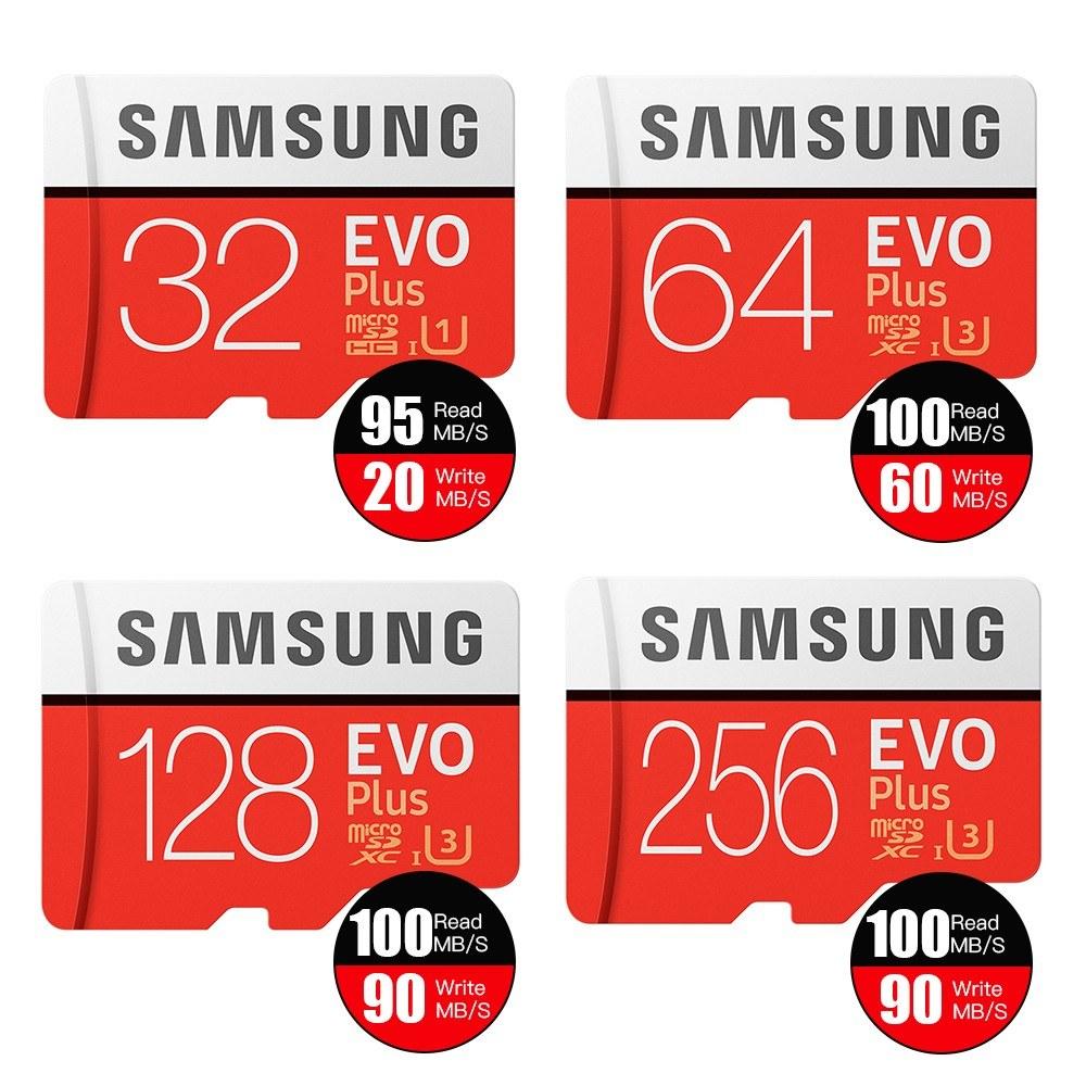 Samsung EVO PLUS U3 Memory Card Micro SD SDHC Adaptor Class 10 SD Card 256GB 128GB 64GB 32GB Sales Online 64gb - Tomtop
