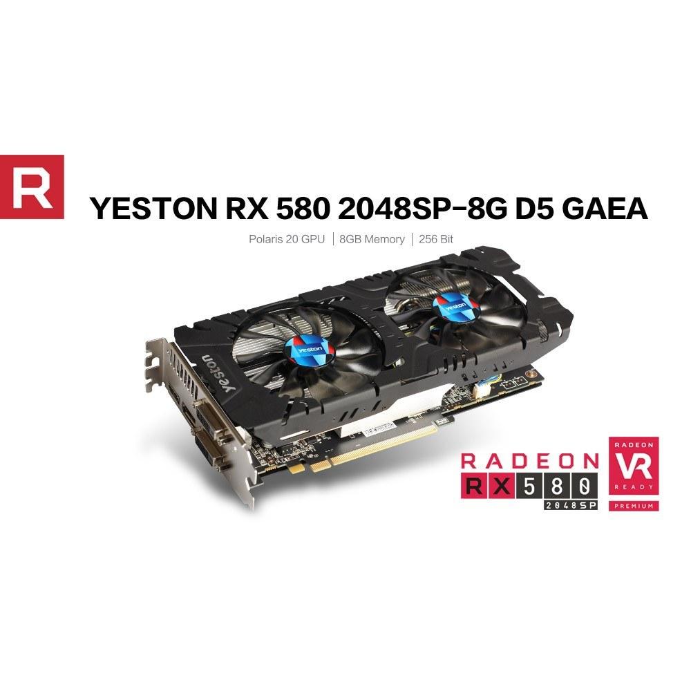 Yeston RX580-2048SP-8G D5 GAEA Graphics Cards Radeon Chill Polaris 20 Dual  Fan Cooling 8GB Memory GDDR5 256bit DP*3/HDMI/DVI-D GPU Sales Online -